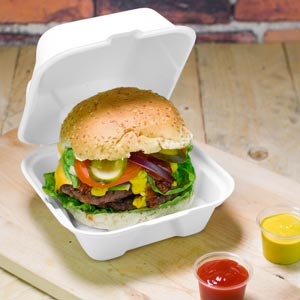 15x15cm takeaway burger con tapa abatible