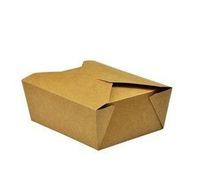 Caja kraft No. 8 1300ml comida caliente (15x12x6,5)cm