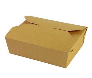 Caja kraft No. 5 1050ml comida caliente (15,2x12,1x5)cm