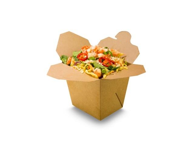 Caja noodle kraft comida caliente 950ml