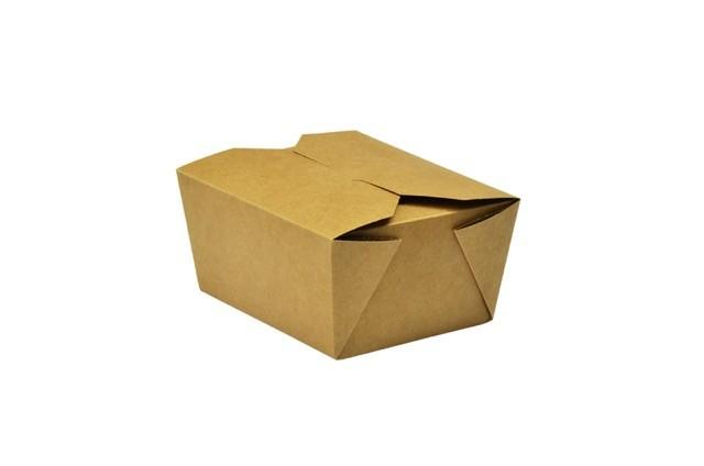 Caja kraft No.1 700ml comida caliente (11x9x6,5)cm