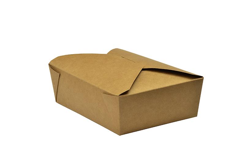 Caja kraft No. 3 1800ml comida caliente (19,5x14x6,5)cm