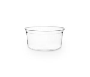 Envase transparente 350ml redondo sin tapa