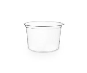 Envase transparente 475ml redondo sin tapa
