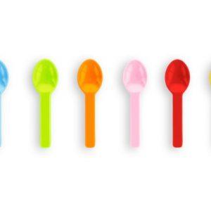 Cucharita helado 6,5cm colores